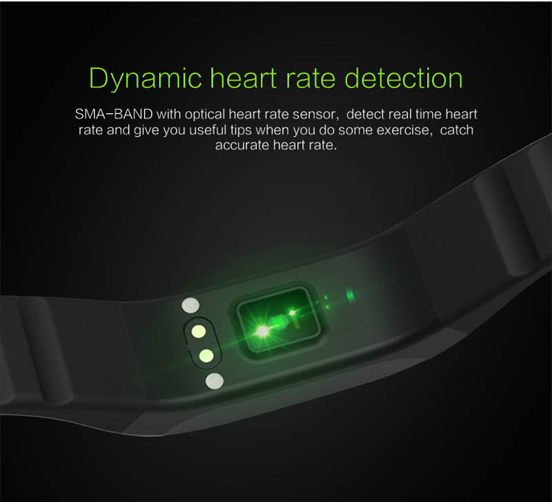 SMA BAND Smart Band Bracelet BT4.0 Dynamic Heart Rate Monitor IP65 Waterproof OLED Breathing Light Smartband for iOS Android Mi
