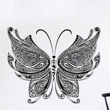 Chinese wind butterfly sticker self adhesive custom importir mural Living room bedroom TV home decor pvc wall sticker