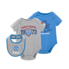 KAVKAS Christmas 3pcs/lot Winter Baby Bodysuit Jumpsuit Overall Short Sleeve Body Suit Baby Clothing Set Summer Cotton(China)