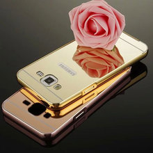 For Hoesje Samsung J7 2016 Case Aluminum Metal Frame Set Phone Bag Mirror Back Cover For Samsung Galaxy J3 J5 J7 2015 Cases