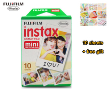 New 10pcs/box fujifilm instax mini 8 film 10 sheets for camera Instant mini 7s 25 50s 90 Photo Paper White Edge 3 inch wide film