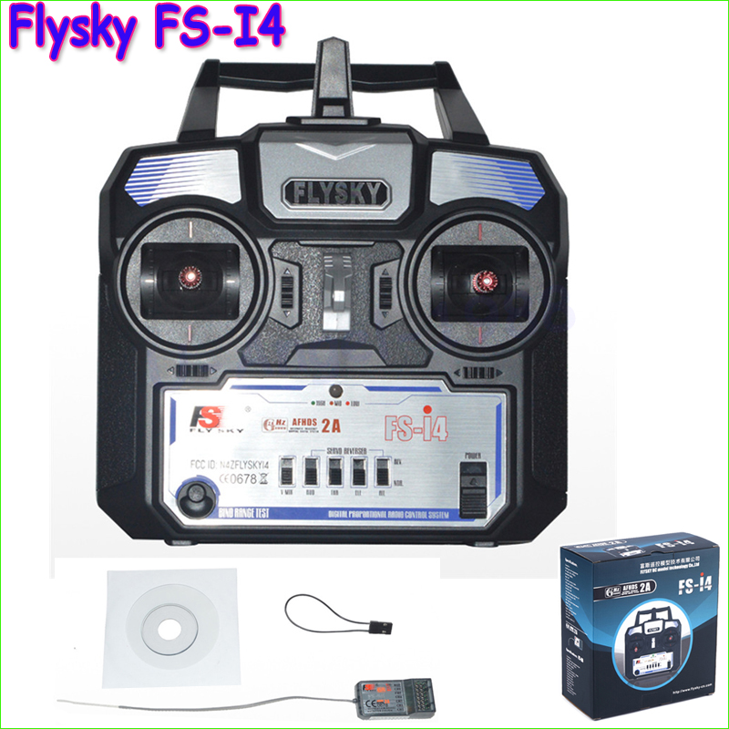 1pcs Original RC Helicopter Airplane Remote control Flysky FS-i4 2.4G 4CH Radio RC Transmitter &amp; Receiver<br>