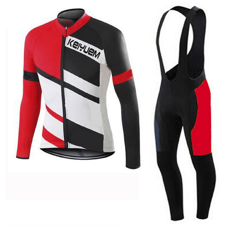 Pro Spring Summer Cycling Set Long Sleeve Bicycle Jersesy Bib Sets Breathable Mountain Bike Clothing 2017 Maillot Ropa Ciclismo<br><br>Aliexpress