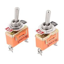 SHGO HOT-AC 250V 15A SPST ON-OFF 2 Pin Latching Miniature Toggle Switch 2Pcs(China)