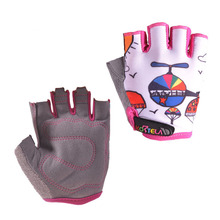 KORTELA Children Cycling Gloves Half Finger Bike Riding Bicycle Outdoor Sports Child Kids Boys Girls Breathable Game Gloves