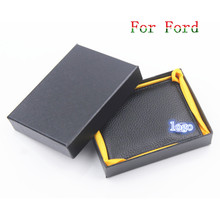 Car Drivers License Holder Bag Black Leather Credit Card Bag Case For Ford Focus 1 3 Fiesta Mondeo Ecosport Fusion kuga Transit