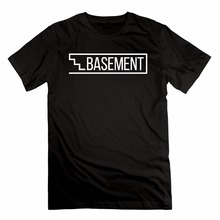New Arrivals Summer Style Simple Basement Logo Men's Printed High Quality Cotton T-shirt