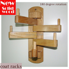 Modern clothes hanger,100%Solid wood coat racks,wood furniture,all things can be hanging hook hanger,180 degree rotating stand