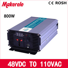 MKP800-481 48v dc to ac 110v 800w pure sine wave inverter off grid voltage converter,solar inverter LED Display