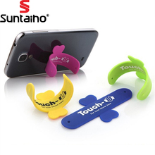 10Pcs/Lot Mini Touch U One Touch Silicone Stand Finger Rings Universal Portable Phone Holder For iPhone 6 5s 7 Samsung Tablet PC(China)