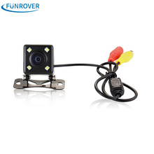 Hot HD CCD 4 LED Reverse Camera 170 Angle Universal Car Rear view Camera 7070 Waterproof Vehicle Camera for VW Ford Toyota &More(China)