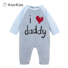 KAVKAS Winter Christmas Clothes Mamas & Papas Thick Velour Baby Romper Infant Wear Baby Boys Jumpsuit Long Sleeve Sleep Pyjamas