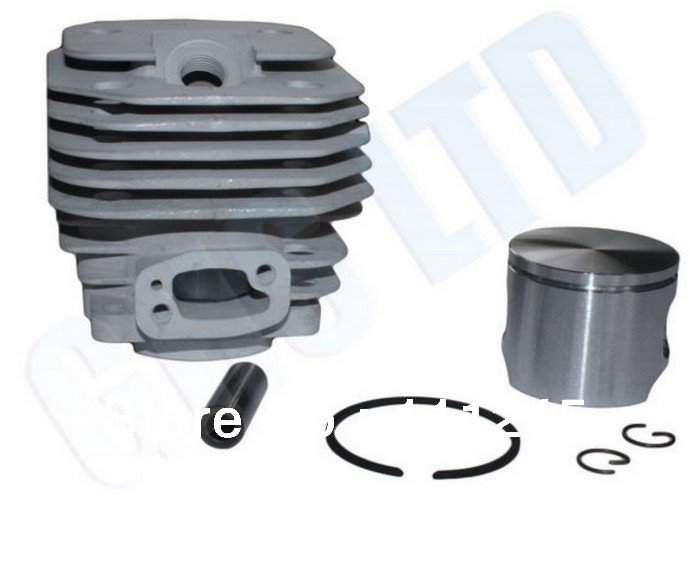 CYLINDER ASSY 50MM SQUARE AIR INTAKE FOR HUS. 371XP 372 372XP CHAINSAW ZYLINDER PISTON RING SET KOLBEN KIT PARTS 503 62 64-73<br>