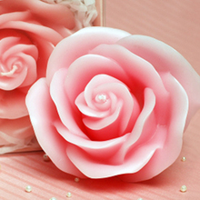 Smokeless Rose Candle Birthday Party Gift Bougie Et Chandelles Wedding Decoration Making Candles Christmas Night Light QQZ331(China)