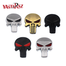 New 3D Cool Metal Skull Car Sticker Logo Car Styling Bike Motorcycle Truck Metal Badge Emblem Tail Decal Accessories(China)