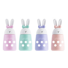 2018 New Thermocup Stainless Steel Vacuum Flask Thermocup with Coffee Thermos Child 300ml Cute Rabbit Ears Dot Gift Cup(China)