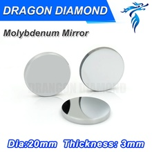 3pcs Diameter 20mm Mo Mirror Co2 Laser Mirror Mo Material Free Shipping