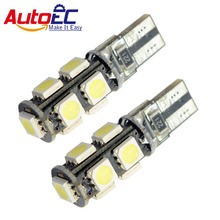 AutoEC 300X W5W T10 9 LED SMD 5050 Canbus 194 162 192 193 Car Wedge Clearance Parking Side Turn signal led 12V #LB45-2(China)