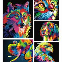Buy 5D Diy Diamond Painting,Cross Stitch,Full Diamond Embroidery,wolf,3D,Diamond Mosaic,Pattern, Rhinestones,Needlework for $3.14 in AliExpress store