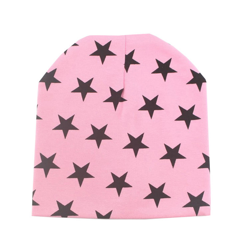 DreamShining Crochet Baby Hats Girl Boy Caps Unisex Beanie Star Print Infant Cotton Knit Cap Kids Toddlers Newborn Hat 10 colors(China)