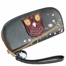 KUDIAN BEAR Long Owl Wallet Card Holder Purse Female Coin Bags Carton Women Wallets Ladies Clutch Phone Cases-- BIC017 PM30