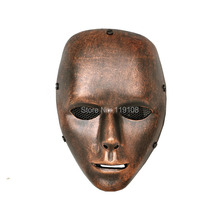2017 Christmas Gift Airsoft Paintball Face mask bronze-coloured Ghost Trot