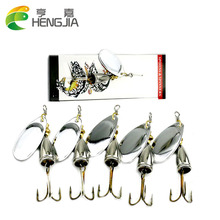 HENGJIA 5pcs 6.5cm 8.5g Spinner Spoon bait Fishing Lure Hard Fishing Spoon Lure Metal Jigging Lure Baits Fishing Tackle(China)
