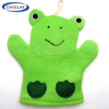 Bath Glove Lovely Frog Blister Towel Body Scrub Pure Natural Cotton&Sisal Decontaminate For Children Toy Without Stimulation