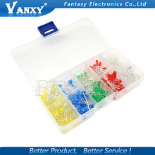 200PC 3MM 5MM Led Kit Mixed Color Red Green Yellow Blue White Light Emitting Diode Assortment In Box Free Shipping