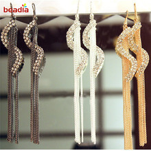 New Arrival Trendy Type S Tassle Earrings Gold Silver Gunmetal Colors For DIY Women Girl Jewelry Gifts Party Birthday