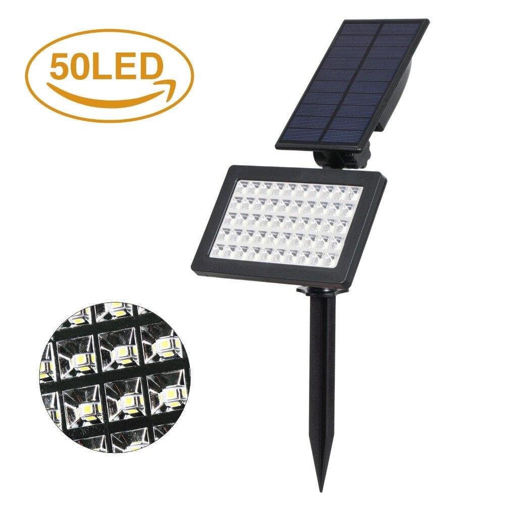 T-SUNRISE 50 LEDs Solar Light Outdoor LED Solar Powered Garden Lights IP44 Waterproof Lawn Lamp Landscape Spot Lights 4