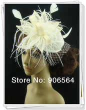 Free shipping 3 color sinamay hats fascinator hair accessories cocktail hats party hats ivory millinery headwear 4Pcs/lot MSF295(China)