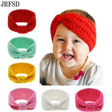 JRFSD New Headband Knit Crochet Top Knot Elastic Turban Head wrap Hair Bands Ears Warmer hairband hair Accessories L-1