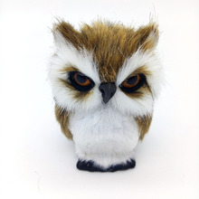 Artificial Animal 10x5cm Owl Toy Fur& Polyethylene Model Home Furnishing Decoration Christmas Gift For Baby
