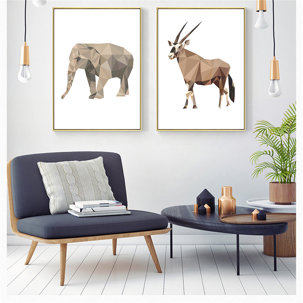 Estilo-n-rdico-Geometria-Abstrata-Animais-Macaco-Pintura-A-Arte-Da-Parede-Da-Lona-Retratos-Da