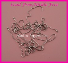 100PCS 10.0cm length 2mm thickness metal beads chains for key chain or to attach hang tags at lead free and nickle free