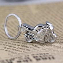 motorcycle motorbike keychain key ring LED light key chain key holder high quality sleutelhanger chaveiro llaveros hombre