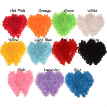 11pcs Chiffon Flower 7.5cm Thin Heart Flowers Hair Accessories Flower Boutique DIY Accessory decoration flower(China)