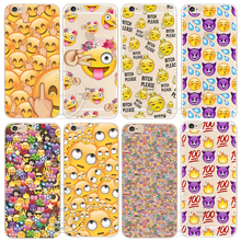 Shell For Apple iPhone 8 X 5 5S SE 5C 6 6S 7 Plus Back Case Cover Funny Monkey Emoji New Design Hard Plastic Cell Phone Cases(China)