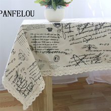 PANFELOU White lace flower words restoring ancient ways kitchen table cloth tea table cloth cover towel cloth(China)