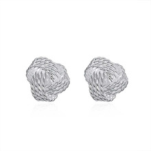 Factory Price Silver Plated Ball Earrings For Women Wedding Jewelry Accessory Fashion Cute Tennis Stud Ear Cuff orecchini donna