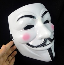 Party Masks 1pcs V for Vendetta Anonymous Guy Fawkes Mask Halloween Cosplay Free shipping