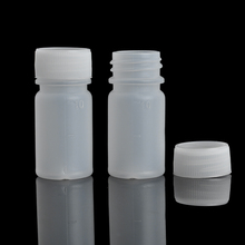 10Pieces/Lot 10 ML Travel Bottle Of Liquid PE Pill Case Small Mouth Drug Bottle With Scale(China)