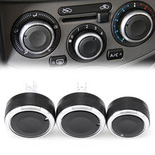 3pcs/set Car styling Air Conditioning heat control Switch knob AC Knob car accessories for Nissan Tiida/NV200/Livina/Geniss(China)