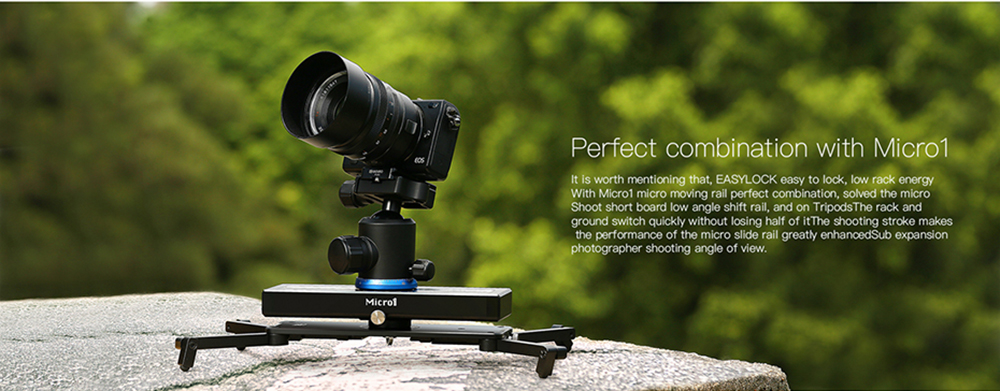 Portable Micro 2 Professional Camera Video Slider Travel Track Slider Dolly Track Rail for DSLR ARRI Mini RED BMCC  Iphone X 20