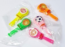 10 pcs 7cm Mini Sound Clappers Football Basketball Socceer Goody Bags party Favor toys Pinata Carnivals Clicker Sound Maker