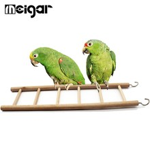 Birds Toy Wooden Ladders Swing Scratcher Perch Climbing 3/4/5/6/7/8 Ladder Bird Cage Hamsters Parrot Toys Pet Supplies(China)