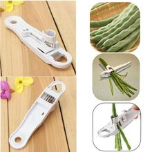 Saingace French Style Green Bean Vegetable Runner Slicer Cutter Stringer Remover Peeler bean slicer kitchen good helper(China)