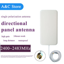 4pc/lot 18dBi 2.4ghz wifi antenna directional single polarizationpanel antenna for wifi wireless network coverage customized(China)