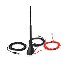 DAB/DAB+Auto Radio Aerial Amplified Roof Mount Antenna AM/FM Din SMA Male Connector 5m Cable for AutoDAB+ Radio(China)